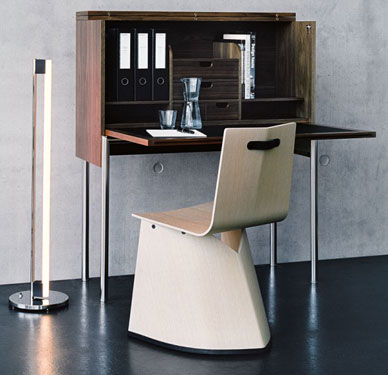 Orcus secretary desk by Konstantin Grcic - open