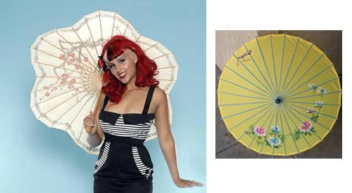 Pinup parasols