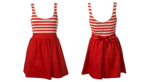 Stripe poplin dress