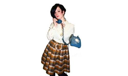 Tweed bow skirt