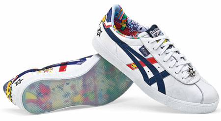 official photos 1eb6e d5b16 Onitsuka Tiger limited edition Tokidoki Lawnship trainers ...