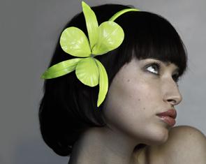 Neon orchid headband