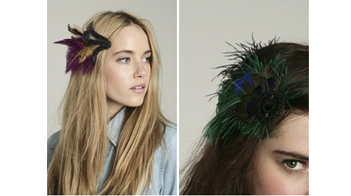 Urban outfitters feather clip