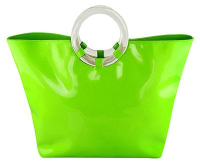 1960s patent pvc tote bag