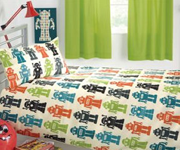Retro Robots Are A Perennial Favourite Here At To Go And This Robot Duvet Set Joins The Lists Of Items Featuring Mechanical Creations