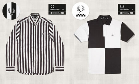 The theme for the three garments in the range is 'black and white unite',