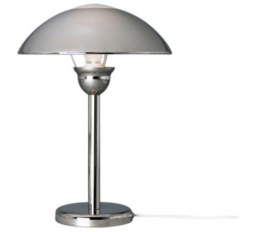 About Ikea Afton Chrome Modernist Style Touch Table/Bedside Lamp