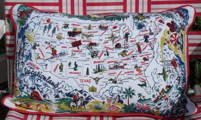 Vacationland pillow