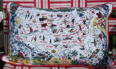 Vacationland pillow