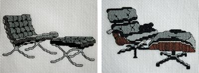 Tiny modernist cross stitch