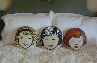 Girl head pillow