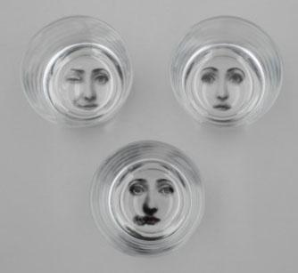 Fornasetti glass tumblers