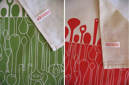 Retro To Go: 1950s-style Borrowed Spoons textile design by Skinny