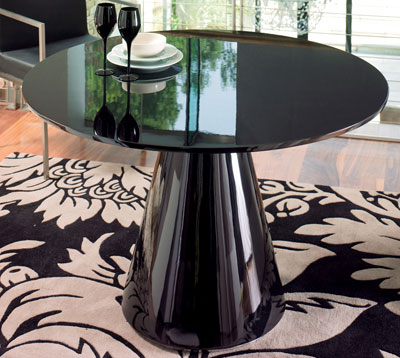 Dwell 60s Style High Gloss Dining Table Retro To Go