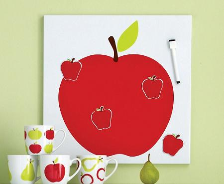 Apple memo board crop