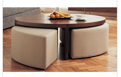 Oval Coffee Table With Stools