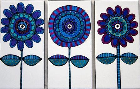 Proust set-of-3-blue-flower-tiles
