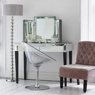 50s style mirrored table