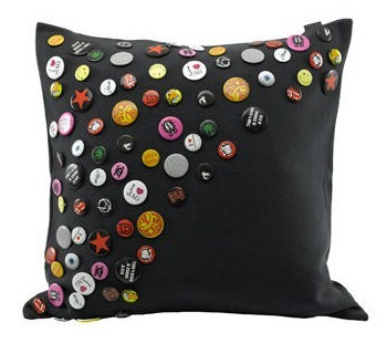 Rock n Roll Badge cushion