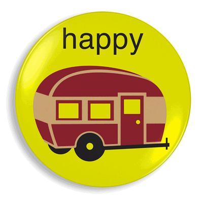 Happy Camper plate by Jane Jenni - Retro to Go