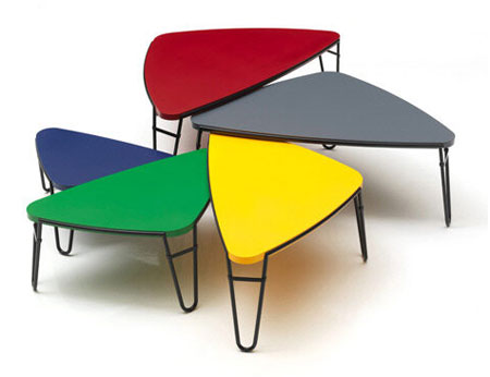 Petalo nesting tables by charlotte perriand for cassina for 80s chair design