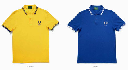 981da93b6 Fred Perry Tournament Edition World Cup 2010 polo shirts - Retro to Go