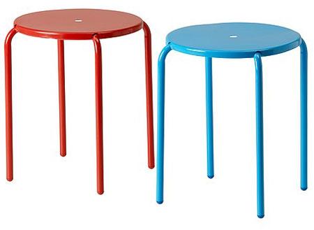 Ikea s aalto inspired outdoor blanko stools get a splash of colour retro to go - Tabouret tracteur ikea ...