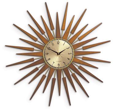 Newgate Pluto 1950s Style Starburst Clock Retro To Go