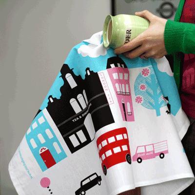 London calling tea towel