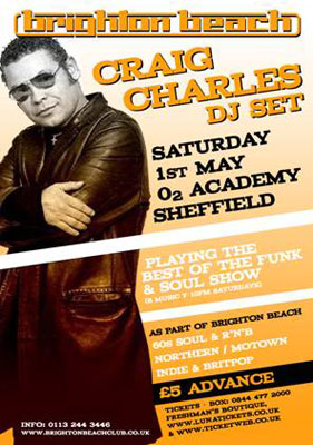 Craig Charles at Sheffield Brighton Beach