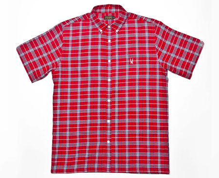 Aertex sawyer shirt-sleeve shirt