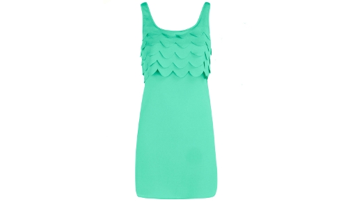 Dorothy Perkins Green Scallop Tunic
