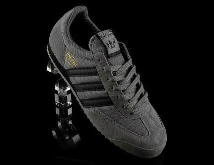 mens adidas dragon trainers grey