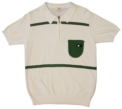 Aertex Kerry 60s-style polo shirt