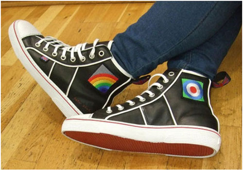 Sir Peter Blake sports shoes