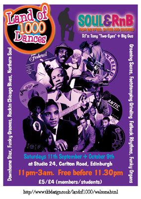 Land Of 1000 Dances – Edinburgh