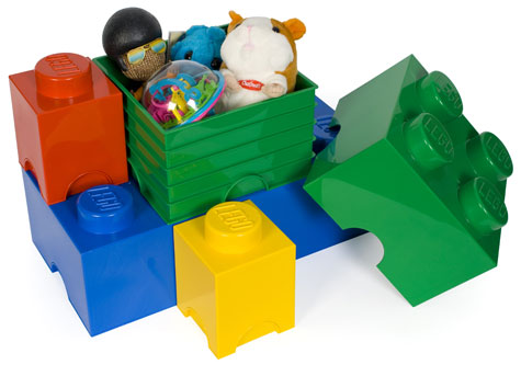 Looking For Something Quirky For Storing Your Bits And Pieces? Check Out  These Lego Storage Heads And Storage Bricks.