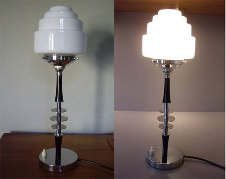 Ebay Watch 1930s Art Deco Style Table Lamp Retro To Go
