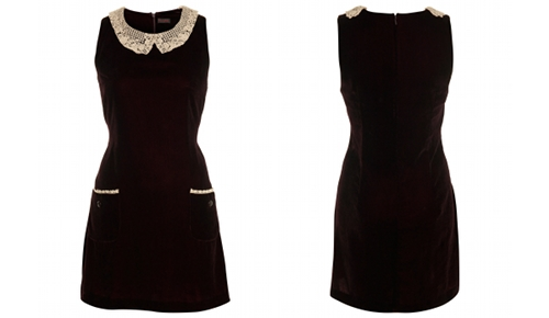 Miss Selfridge Velvet Shift Dress