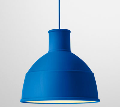 Rubber is a very useful substance, but not something you would necessarily  think of using as a light fitting.