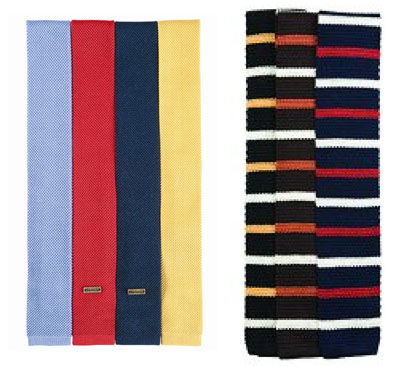 Barbour silk knitted ties