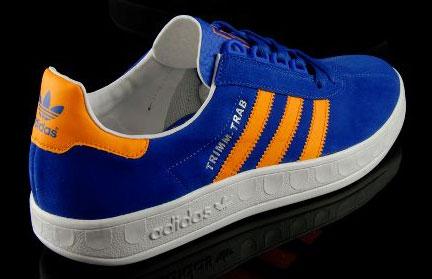 bolsillo triángulo Escuela primaria  Adidas Trimm-Trab trainers get a reissue in blue and gold - Retro to Go