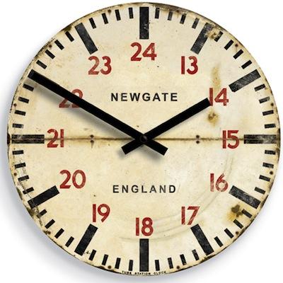 Underground station clock