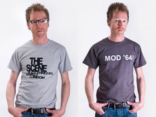 Mod-related t-shirts at Gama Clothing