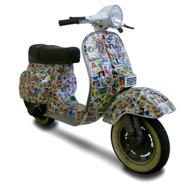 Vespa PK50 scooter x Panini stickers