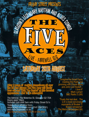 The Five Aces – farewell gig