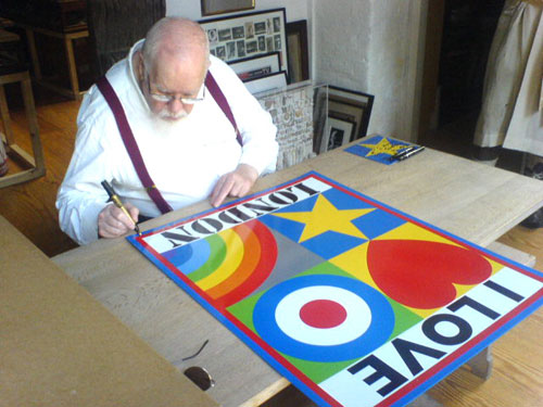 Sir Peter Blake I Love London prints