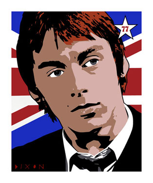 Paul Weller pop print by Simon Dixon