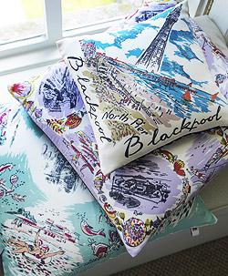 Silk memento cushions