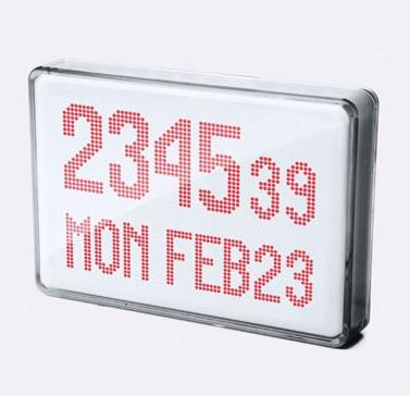 Dot matrix clock